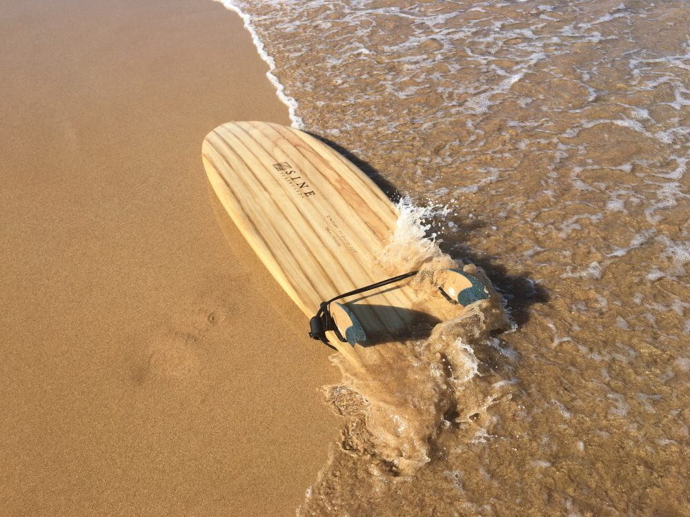 Carbon footprinting undertaken at each step of the process to create the Sine netzero surfboard